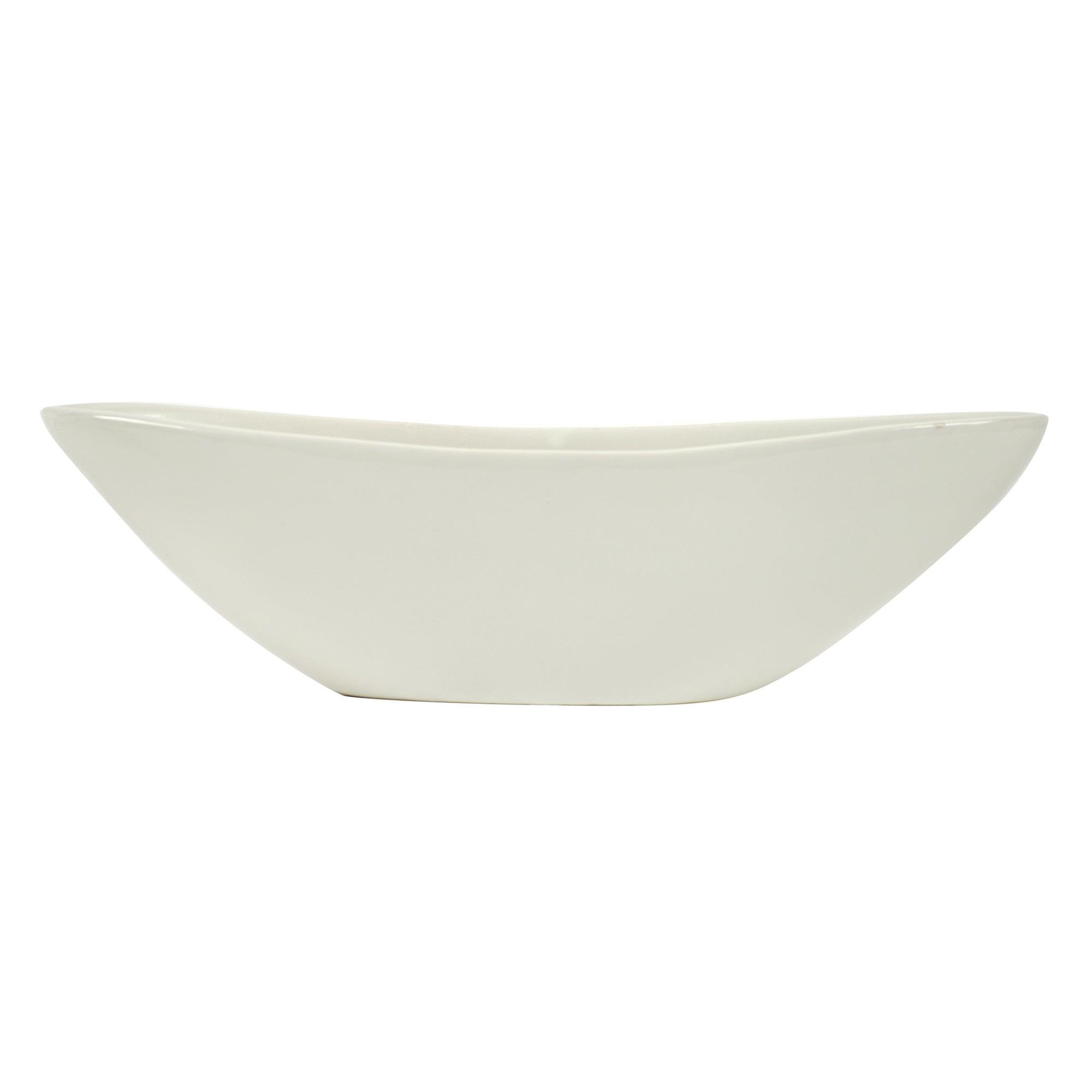 White Potpourri Oval Bowl