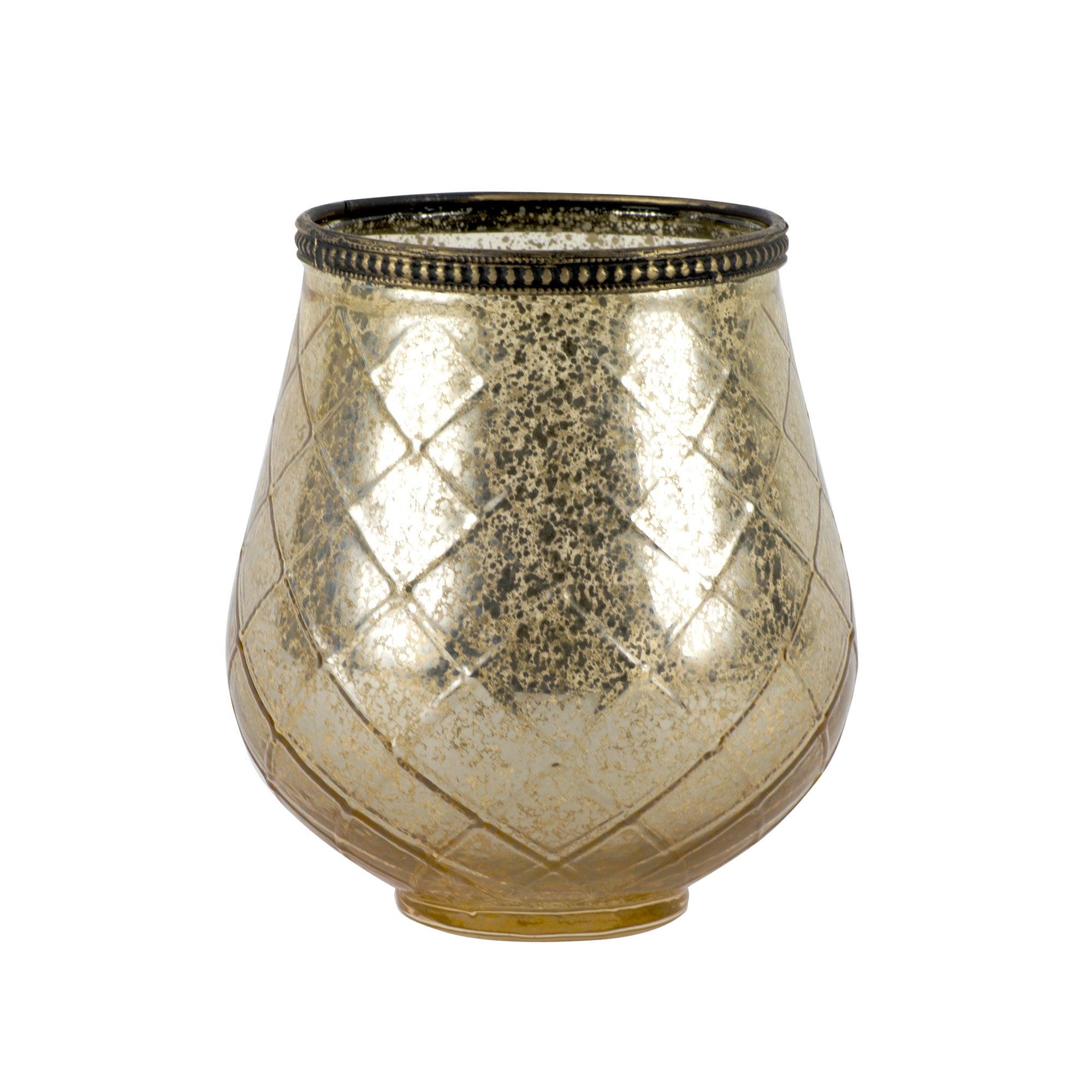 golden blush collection glass tea light holder dunelm. Black Bedroom Furniture Sets. Home Design Ideas