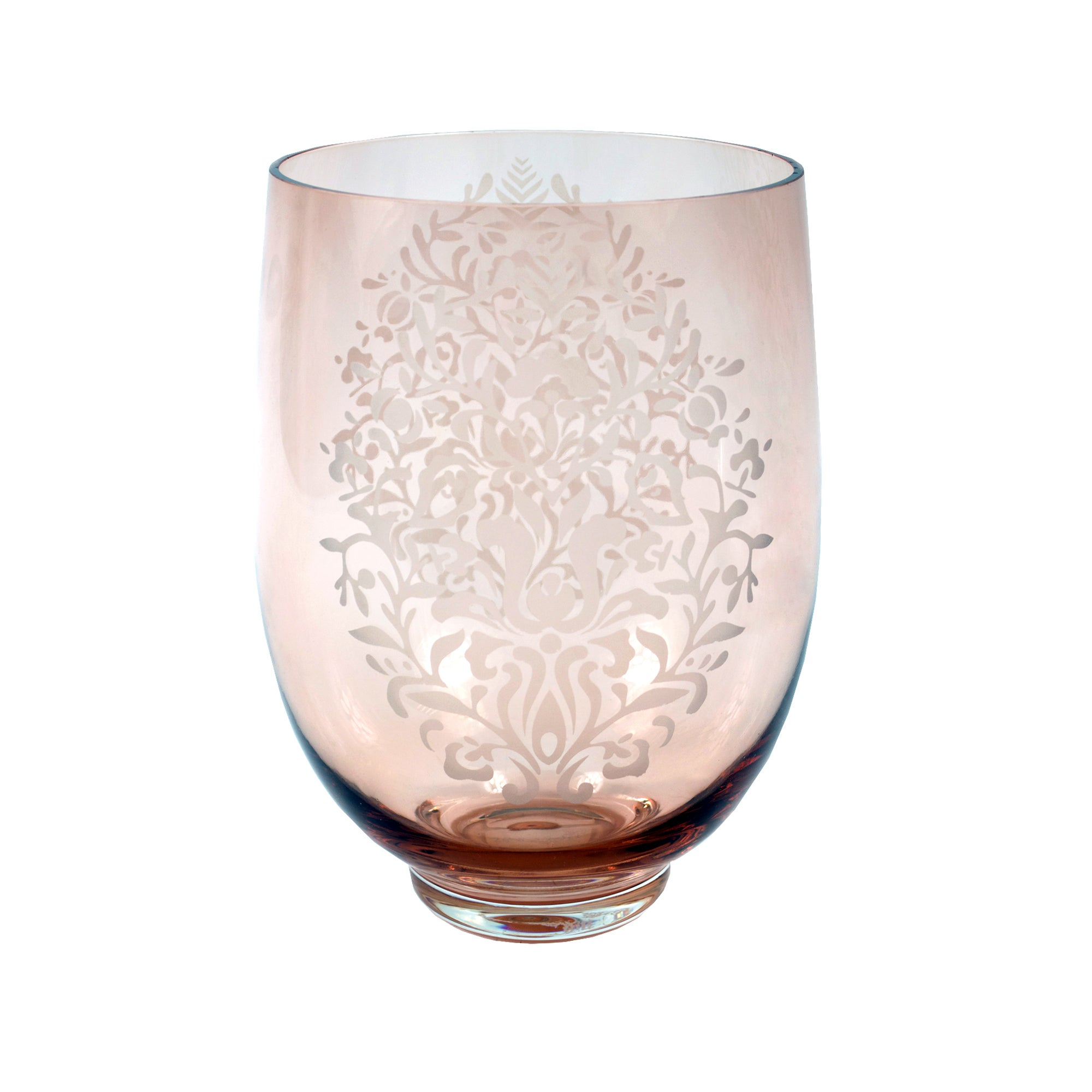 Blush Hurricane Effect Vase