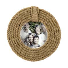 Hamptons Collection Round Rope Photo Frame