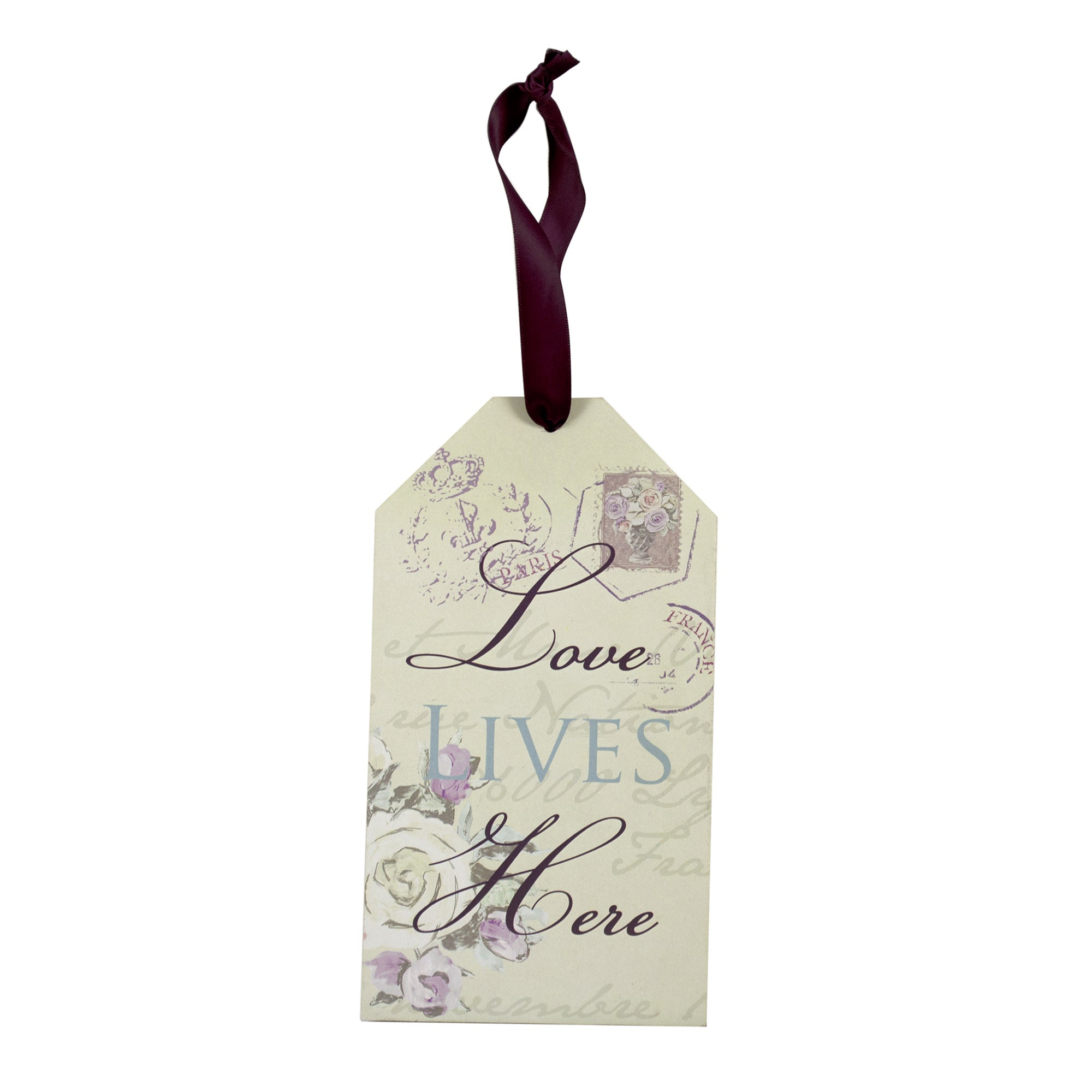 Maison Chique Collection Love Lives Here Plaque