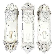 Maison Chique Collection Set of 3 White Door Knobs