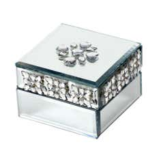 Sparkle Collection Diamante Mirror Trinket Box