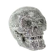 Sparkle Collection Silver Skull Ornament