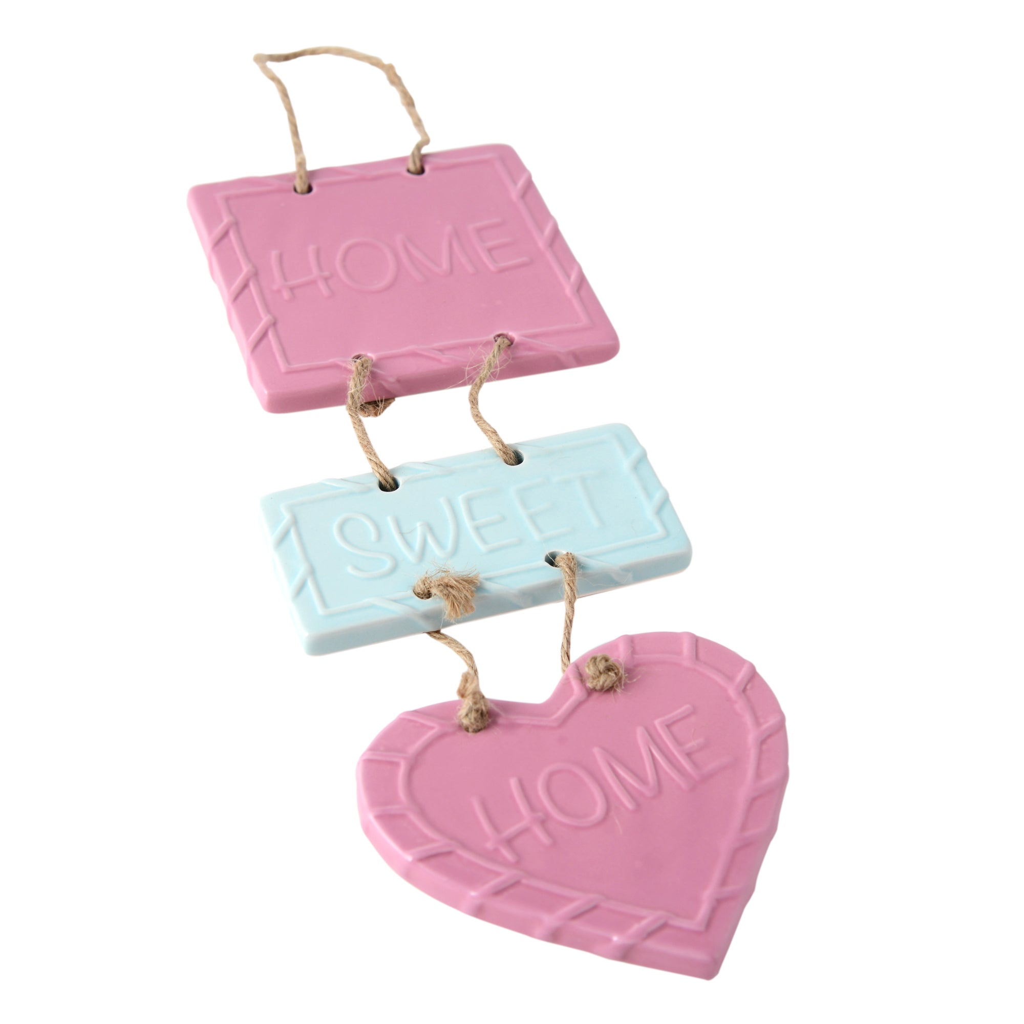 Candy Rose Collection Ceramic Hanging Sign