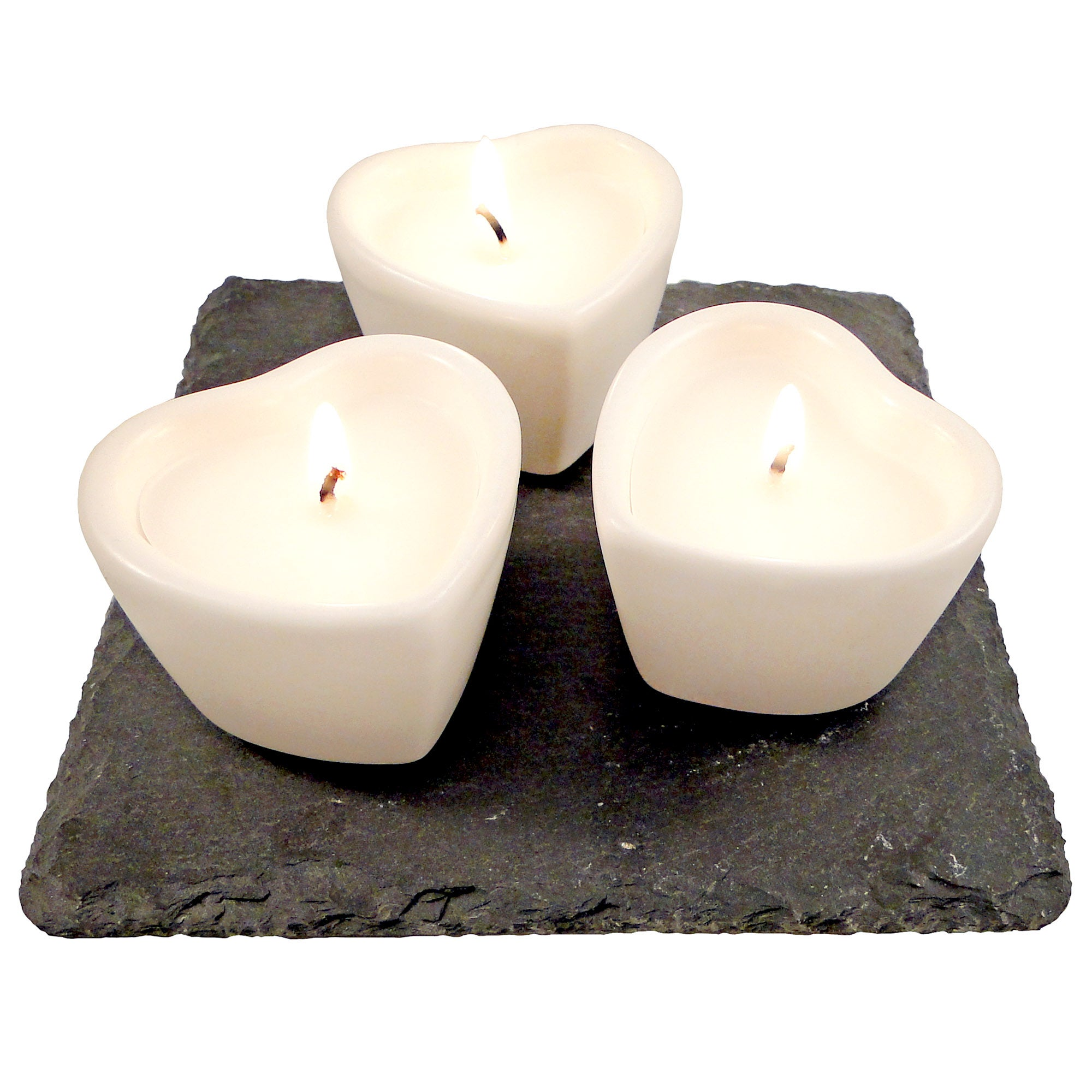 Chalk Cottage Collection Heart Candle Garden
