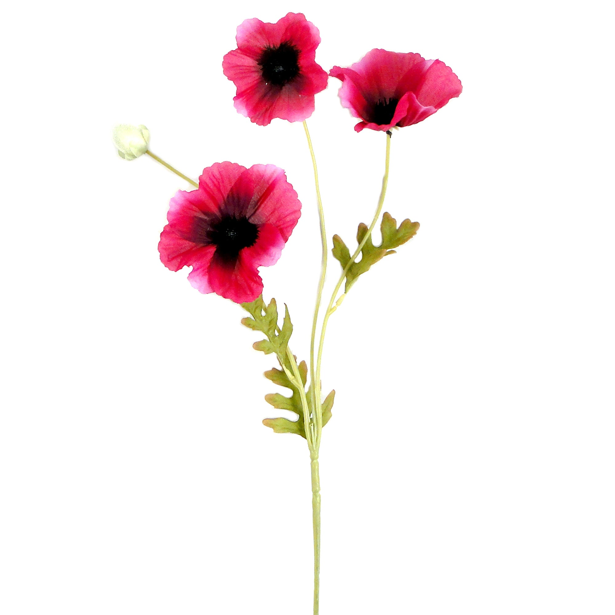Artificial Ruby Poppy Spray