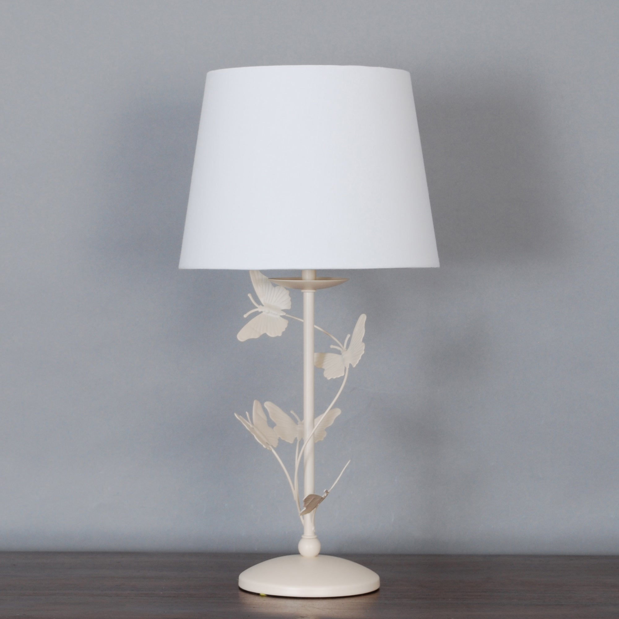 cream bella butterfly table lamp dunelm. Black Bedroom Furniture Sets. Home Design Ideas