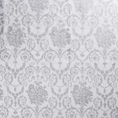 Silver Damask PVC Fabric