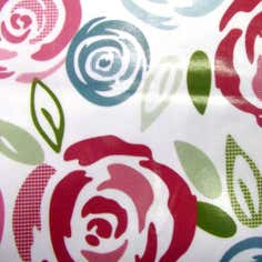 Pink Candy Rose PVC Fabric