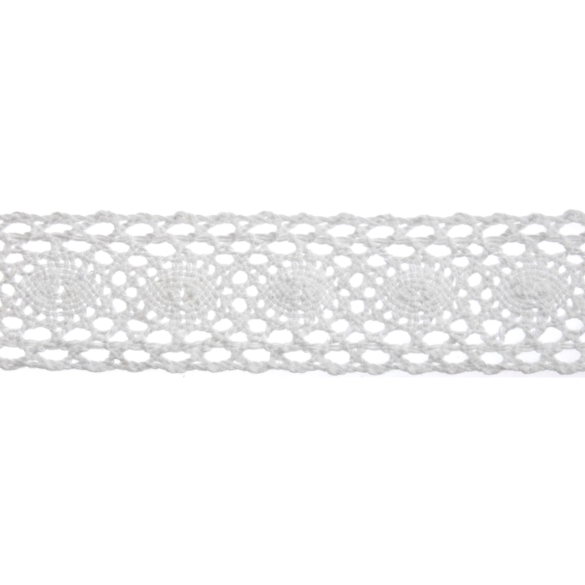 Bowtique White Wide Lace Ribbon