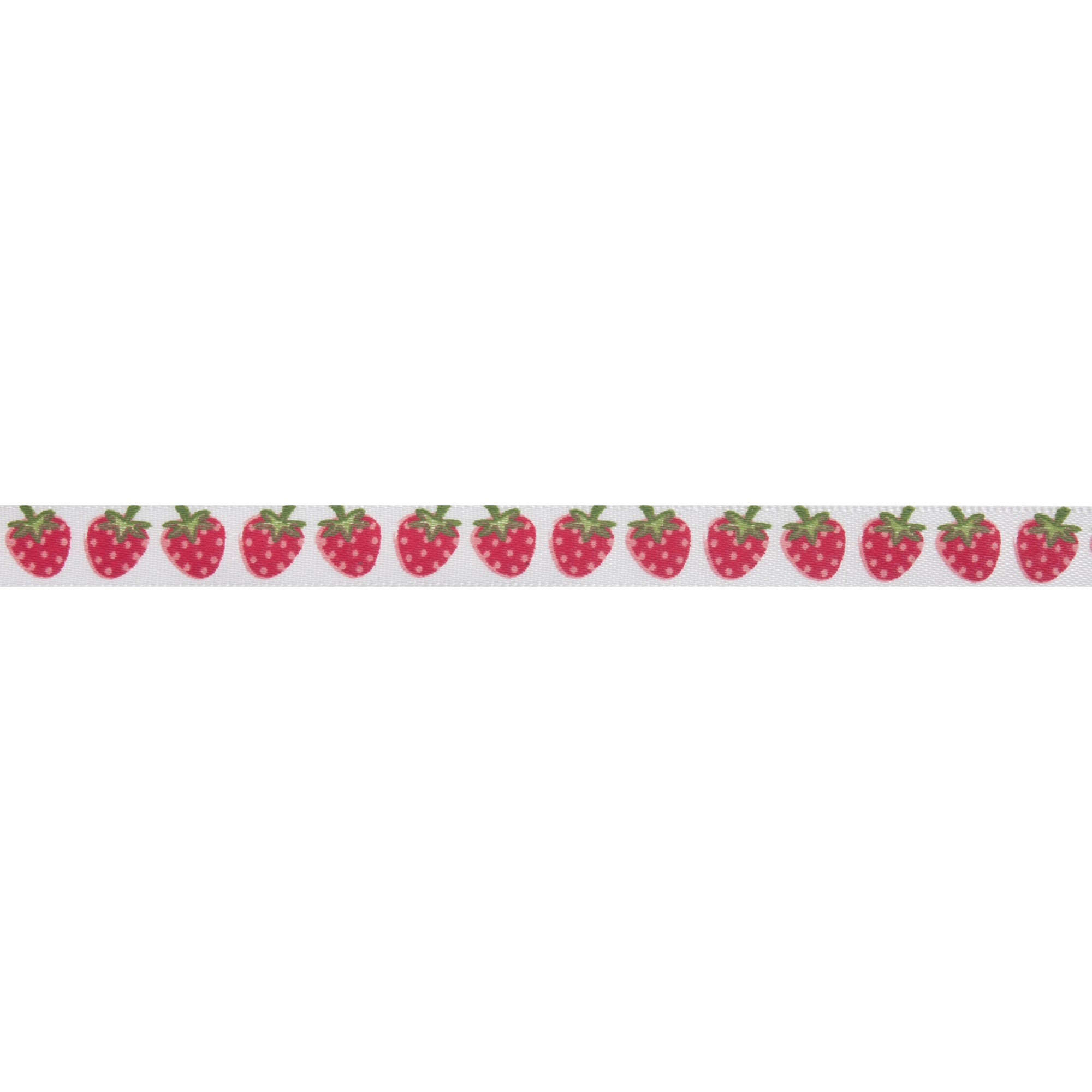 Bowtique Strawberries Satin Ribbon