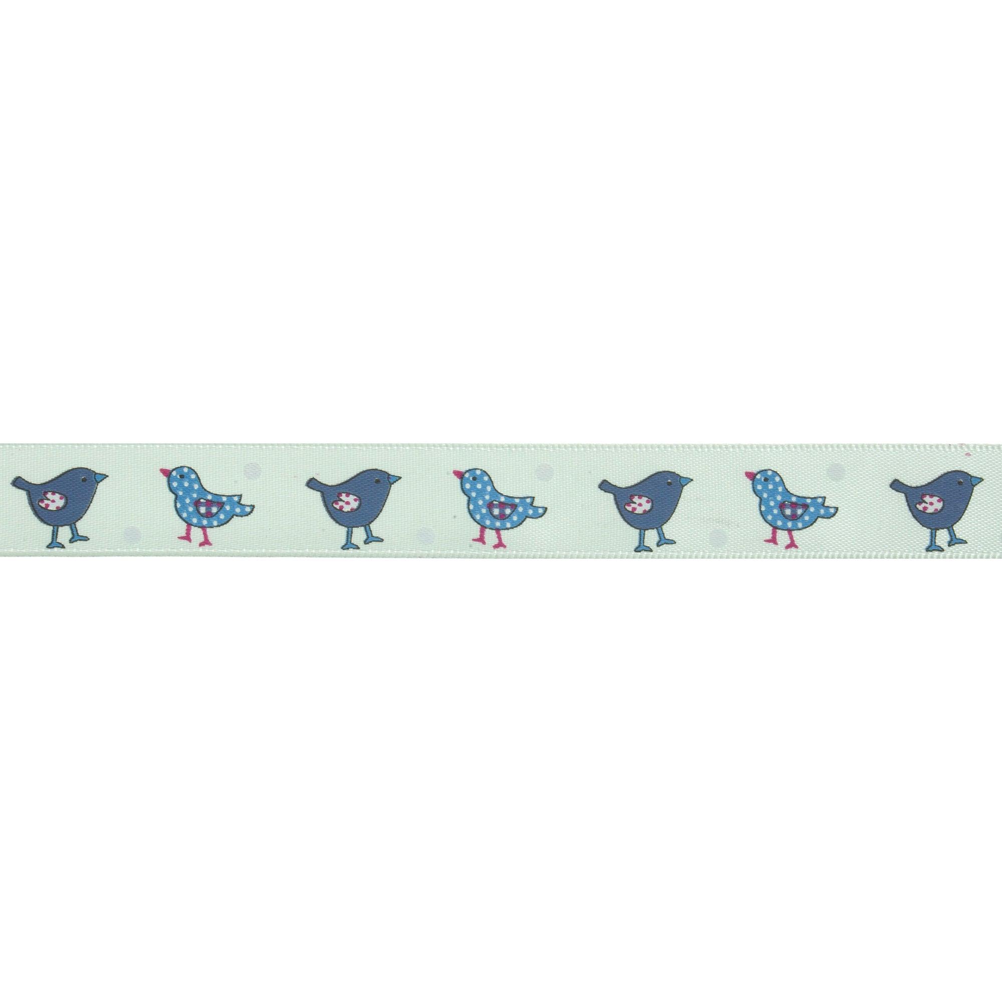 Bowtique Blue Bird Satin Ribbon
