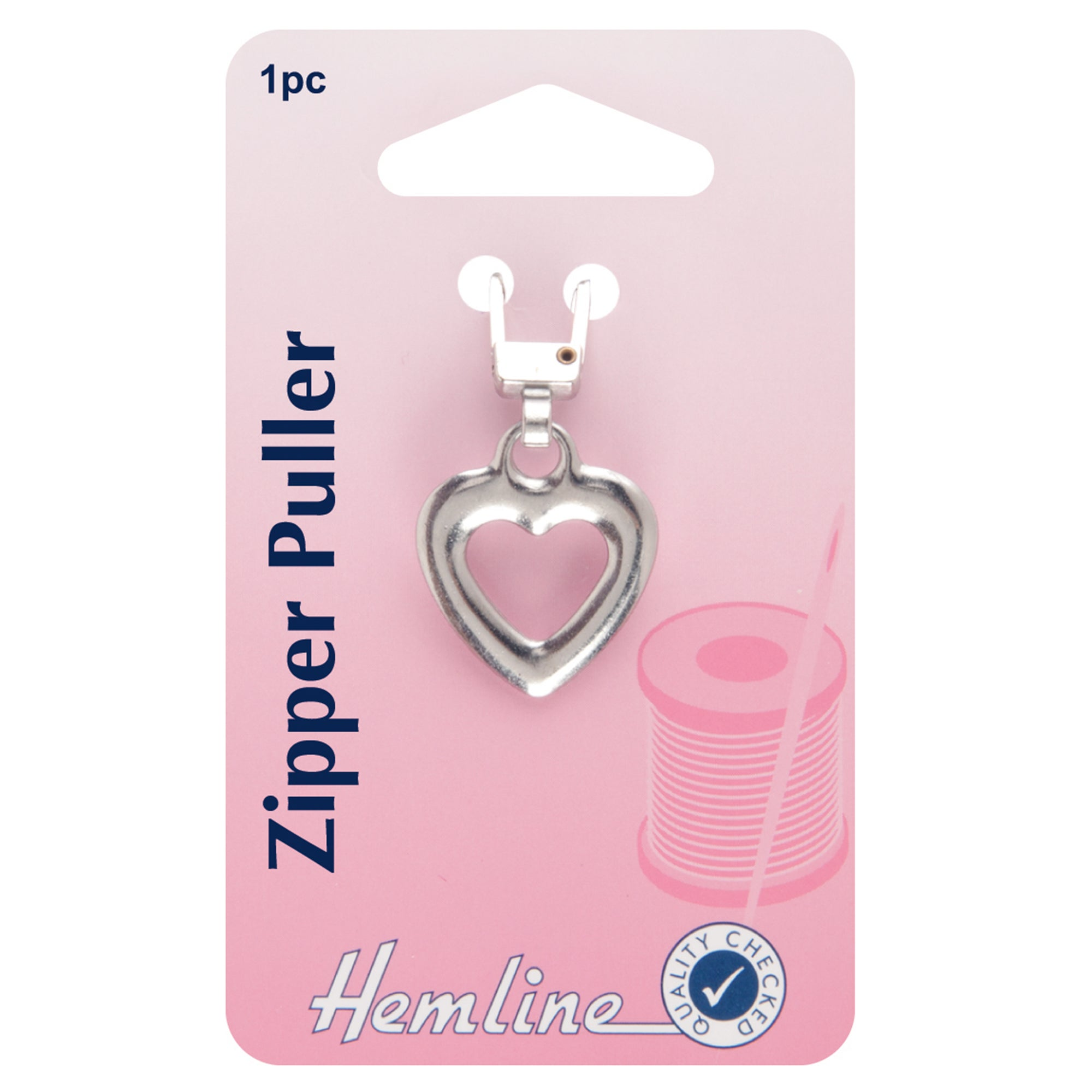 Hemline Heart Zipper Puller