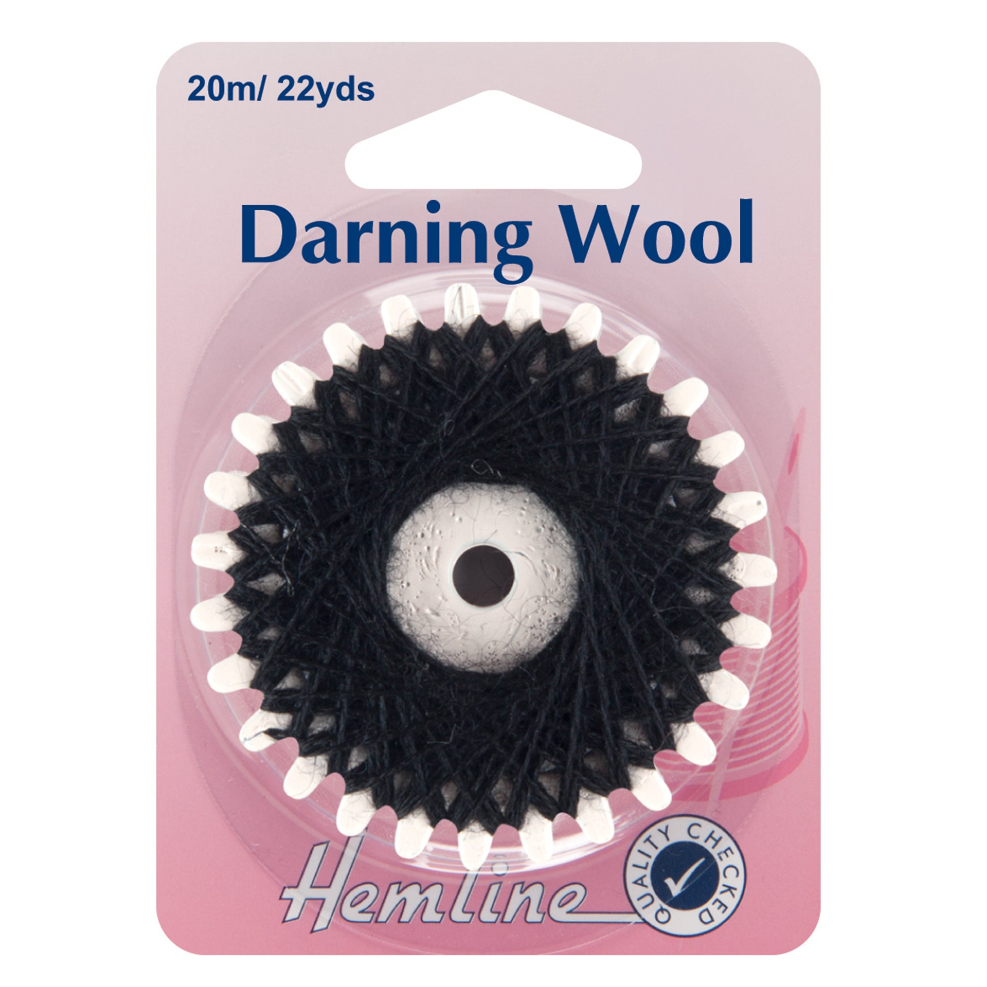 Hemline Black Darning Wool