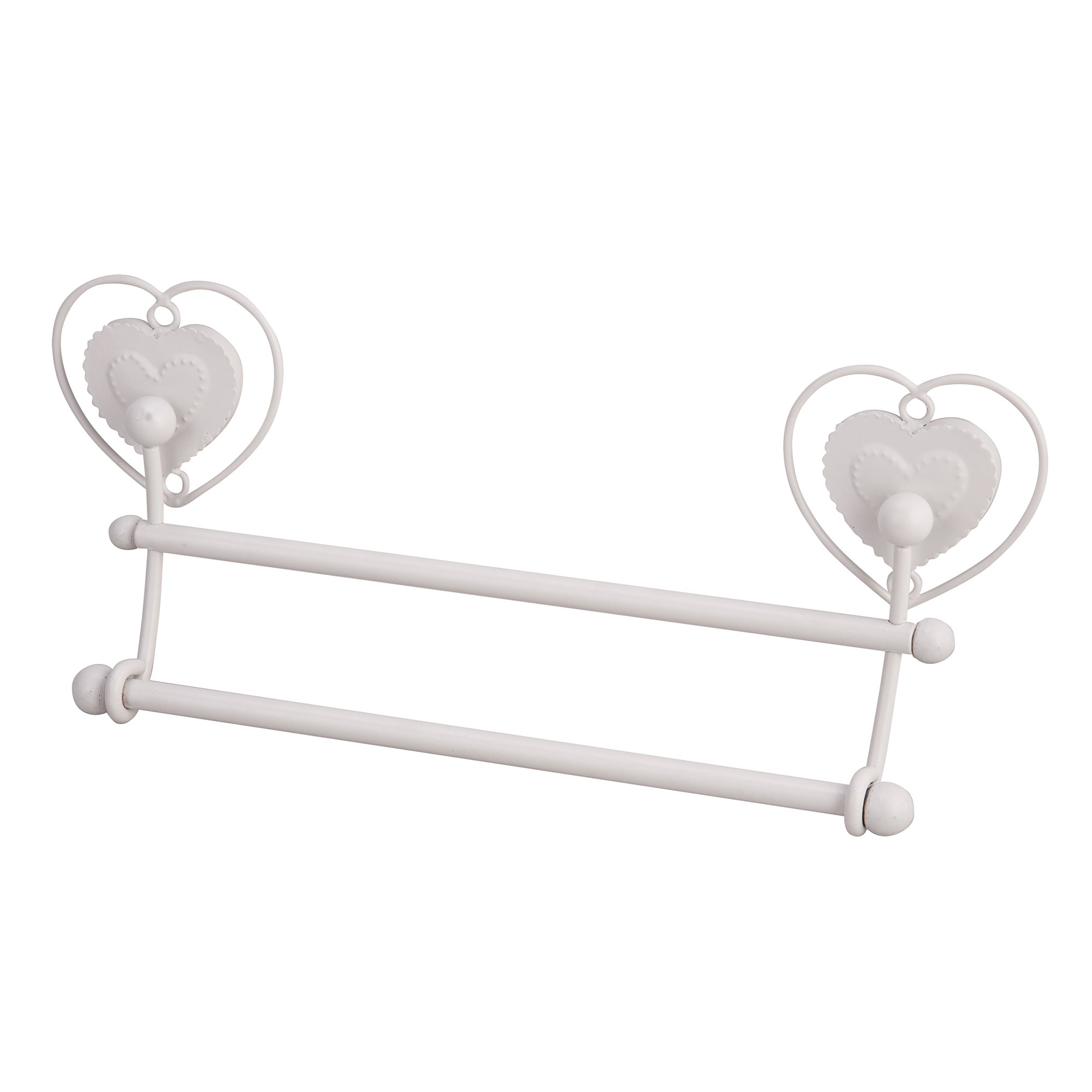 Vintage Heart Collection Double Towel Rail