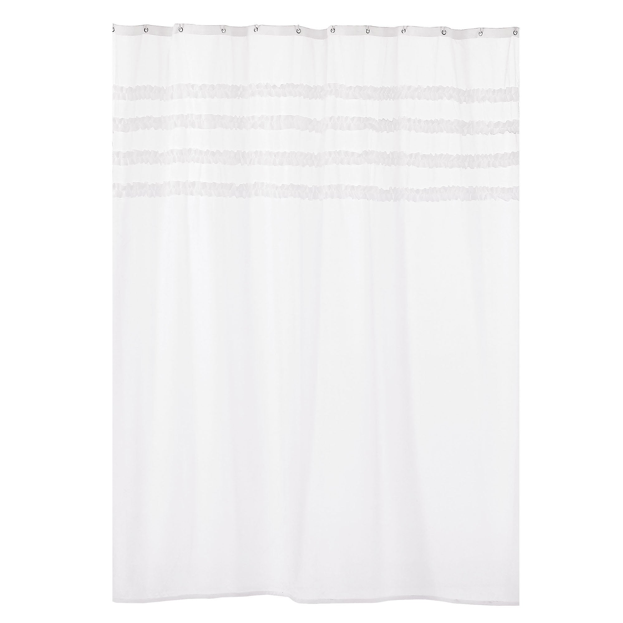 Chalk Cottage Collection Frill Shower Curtain