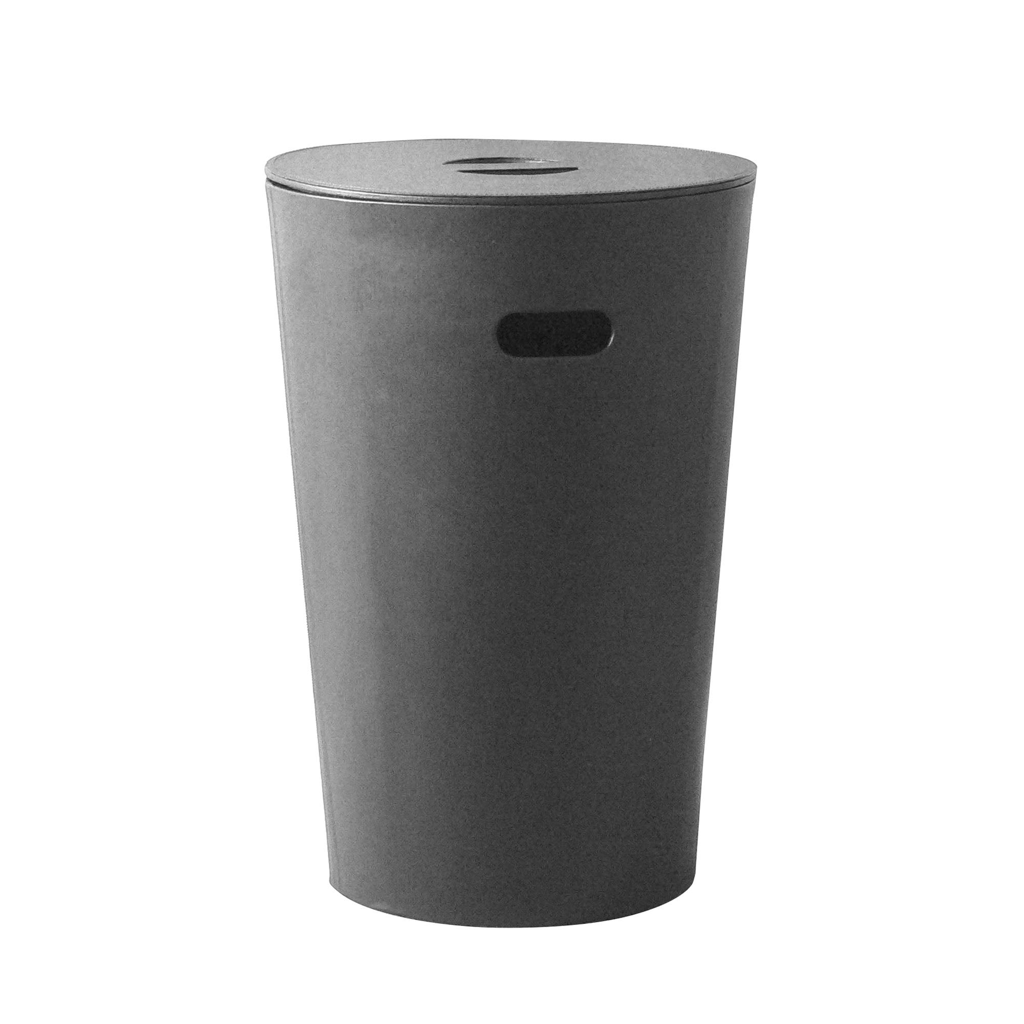 Faux Leather Round Laundry Bin