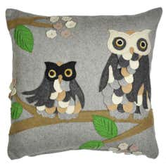 Felt Owl Cushion