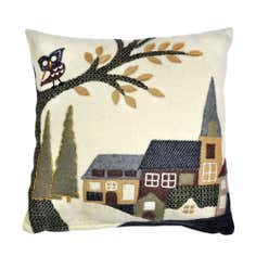 Felt Village Cushion
