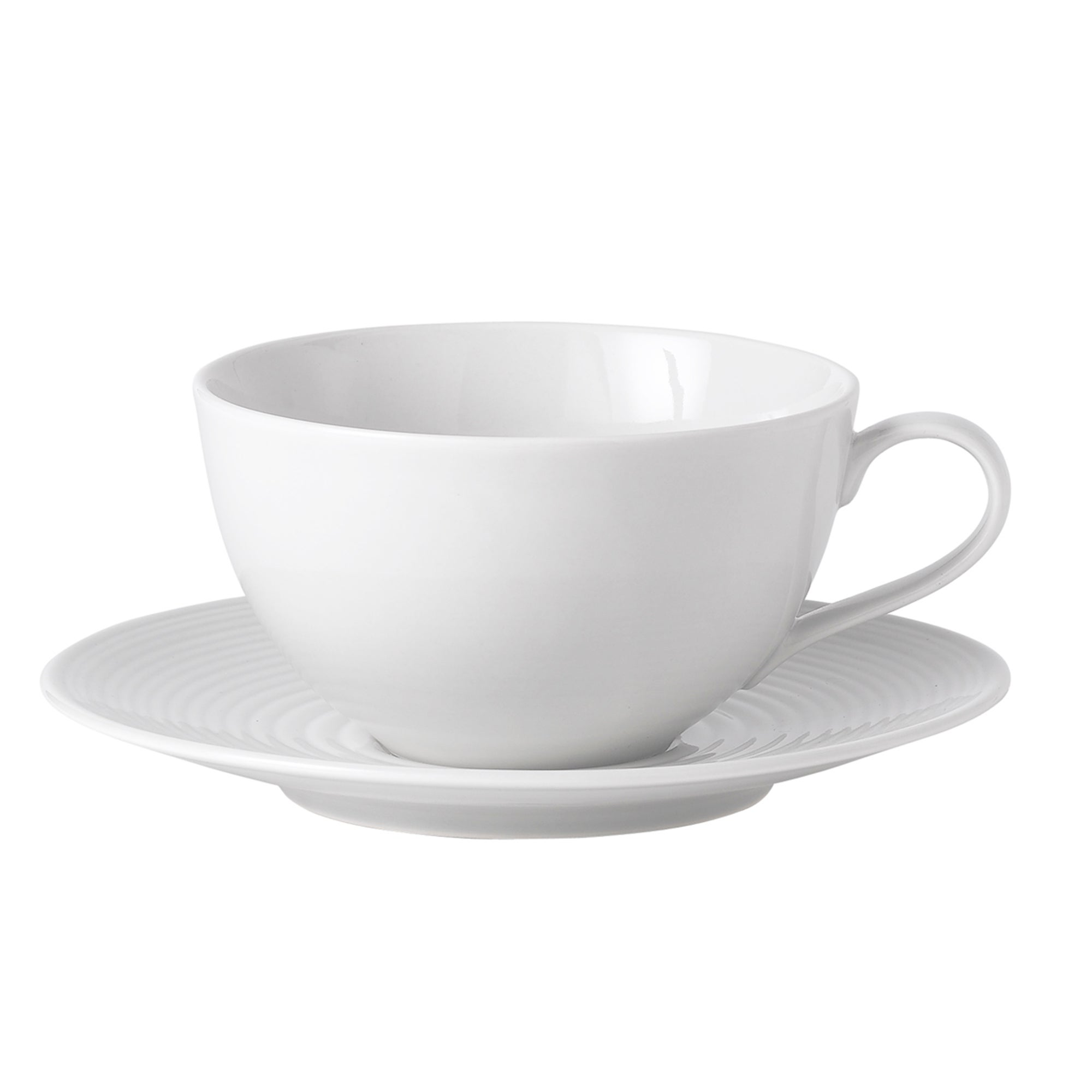 White Gordon Ramsay Maze Collection Cup and Saucer Set