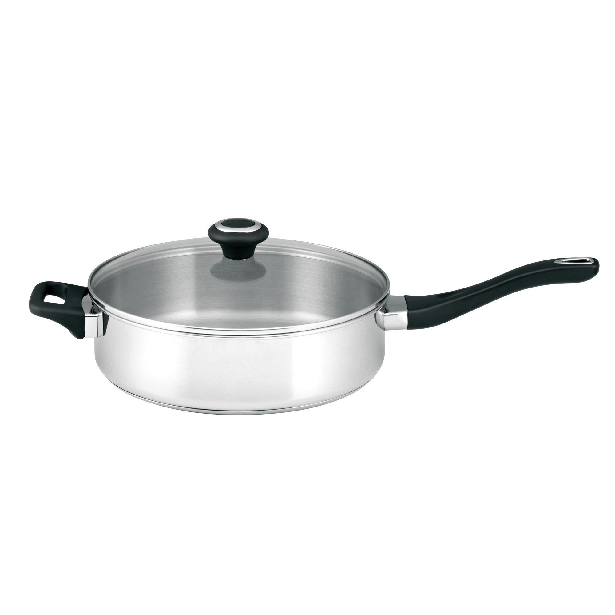 Large Prestige Stainless Steel Covered Saute Pan
