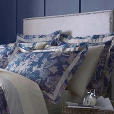 Dorma Blue Samira Collection Oxford Pillowcase