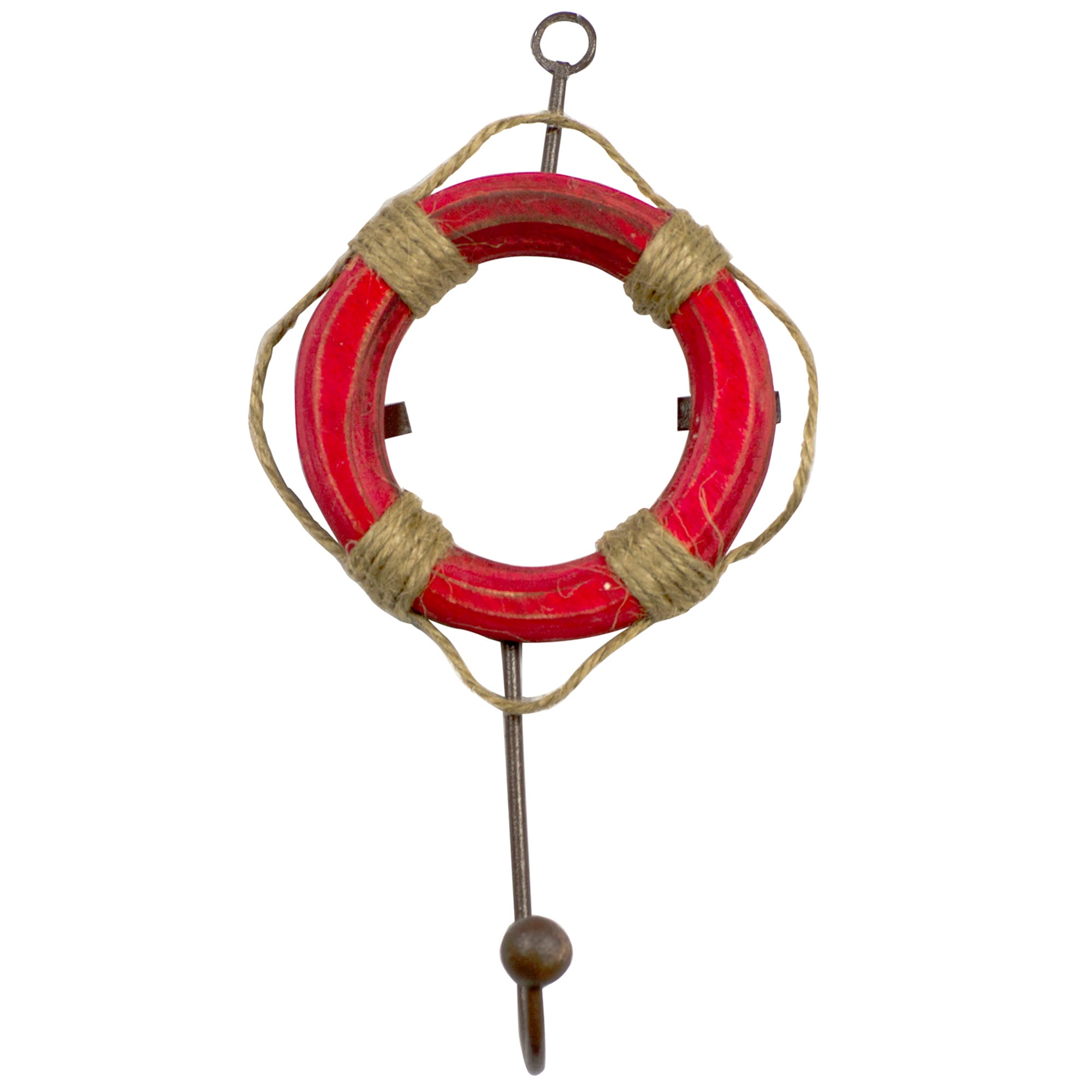 Red Hamptons Collection Life Buoy Hook