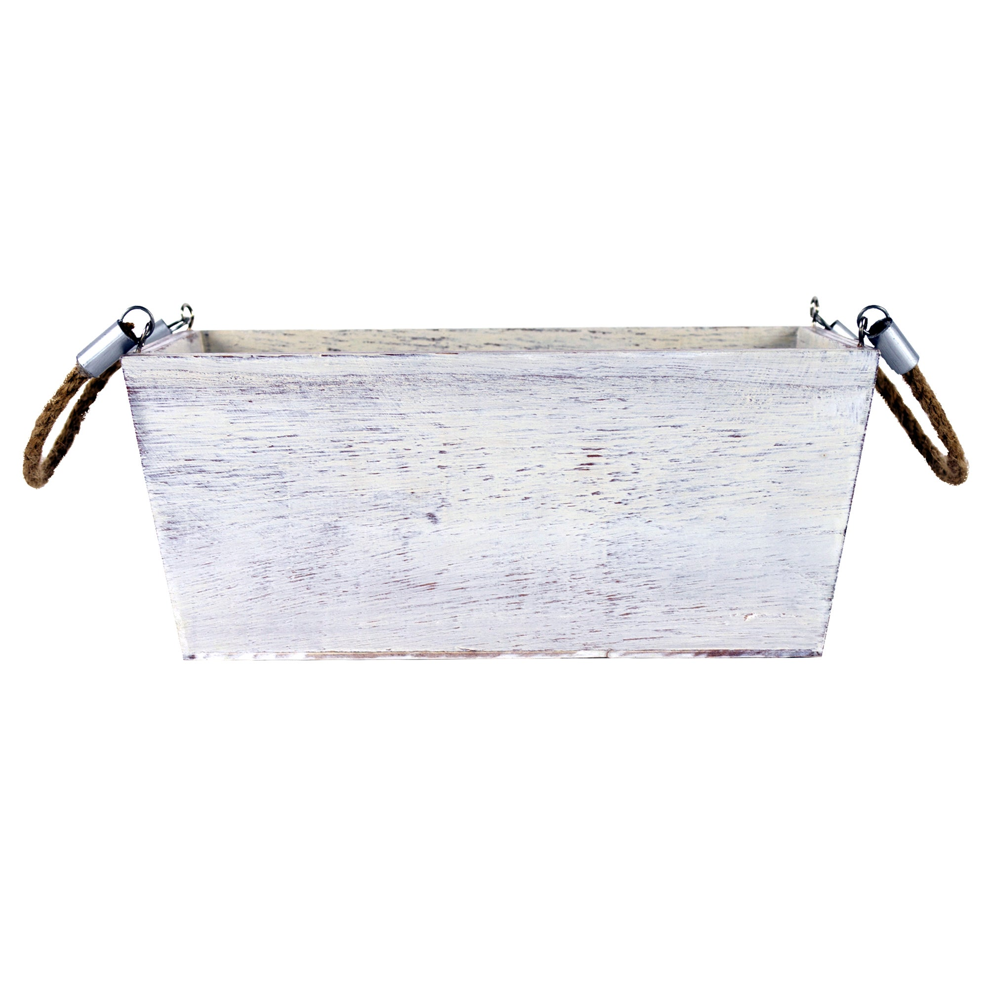 Hamptons Collection White Wash Storage Box