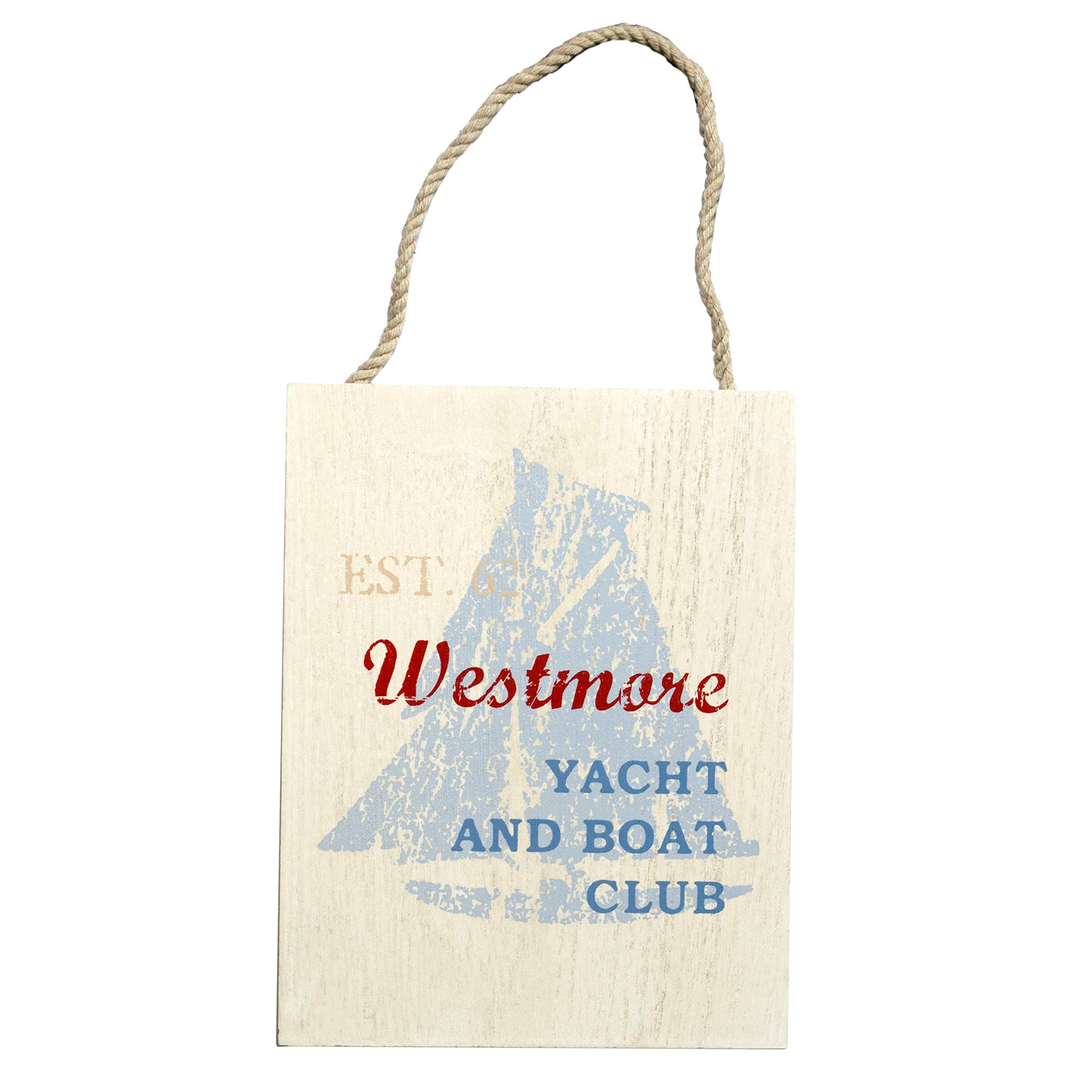 Hamptons Stripe Collection Yacht Hanging Plaque