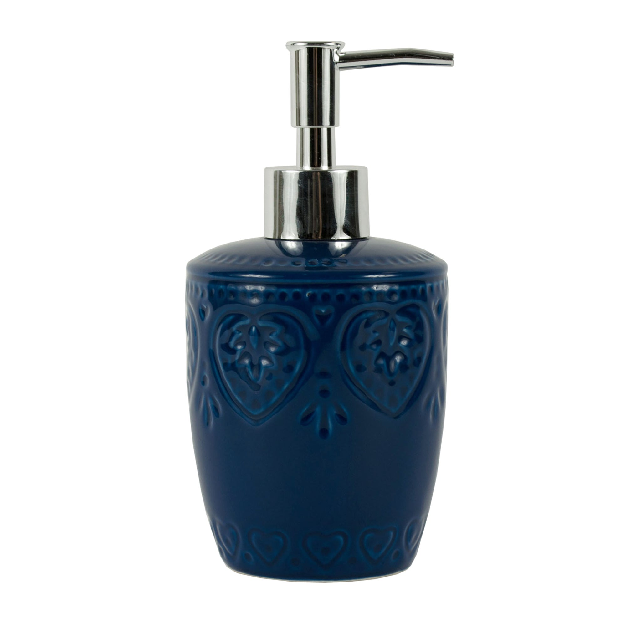 Blue Embossed Heart Collection Lotion Dispenser