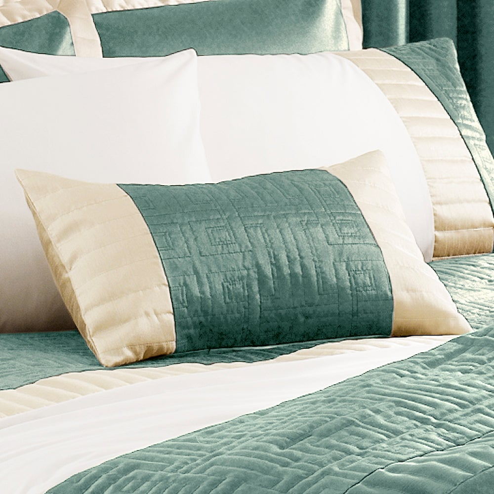 Teal Athens Collection Boudoir Cushion