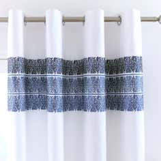 Blue Indi Thermal Eyelet Curtains