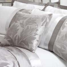 Silver Roma Damask Collection Cushion