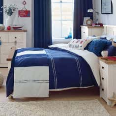 Navy Hampton Collection Duvet Cover