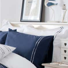 Navy Hampton Collection Oxford Pillowcase