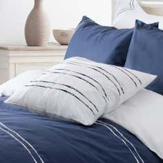 Navy Hampton Collection Cushion
