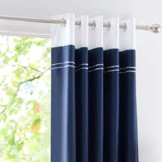 Navy Hampton Thermal Eyelet Curtains