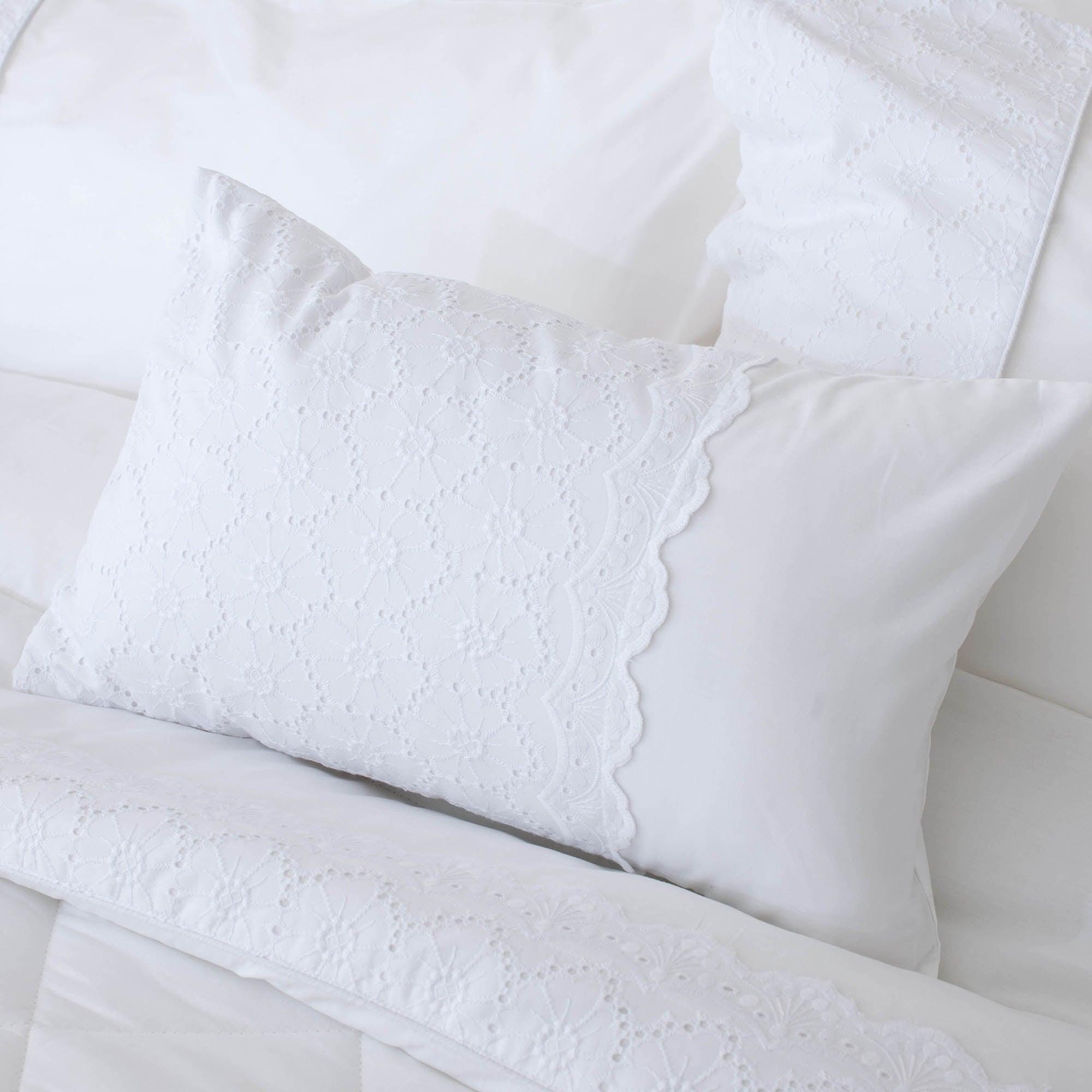White Leighton Collection Boudoir Cushion