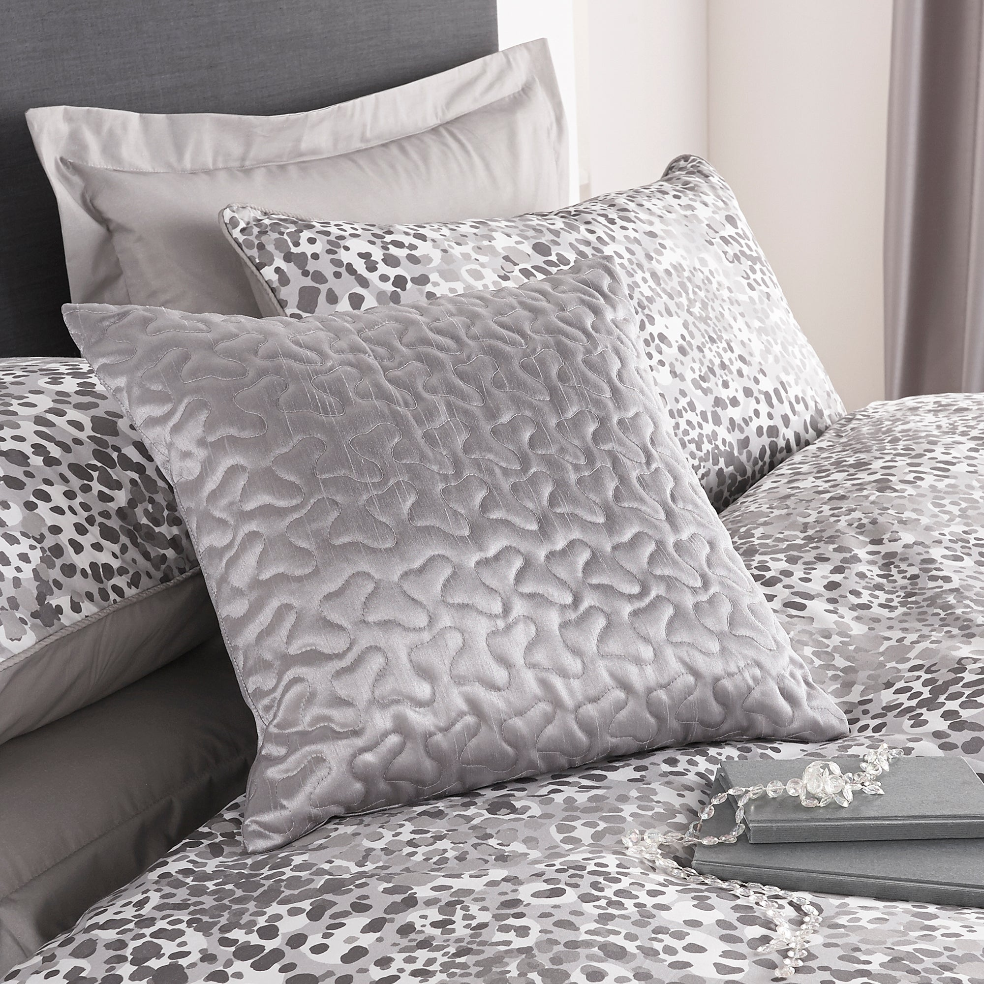 Silver Amber Collection Square Cushion