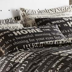 Black Good Morning Collection Housewife Pillowcase