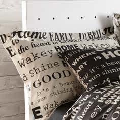 Black Good Morning Collection Oxford Pillowcase