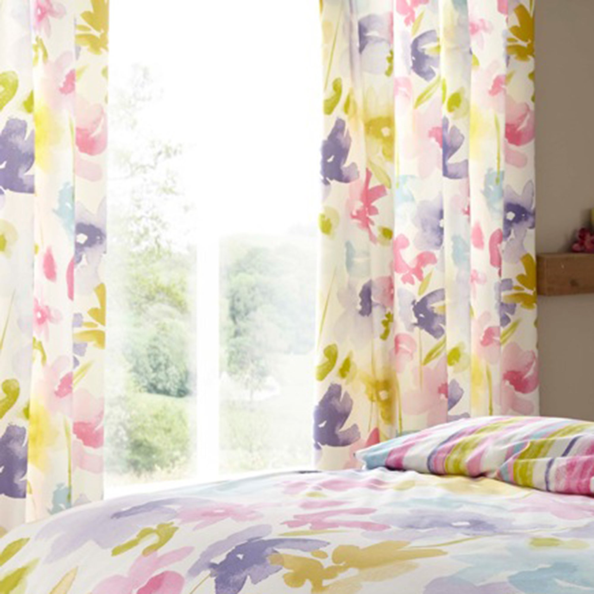 Meadow Breeze Thermal Eyelet Curtains