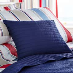 Blue Collection Nautica Stripe Boudoir Cushion