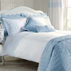 Blue Paige Collection Duvet Cover