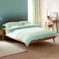 Teal Seattle Seersucker Collection Duvet Cover Set