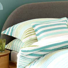 Teal Seattle Seersucker Collection Oxford Pillowcase