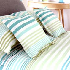 Teal Seattle Seersucker Square Cushion