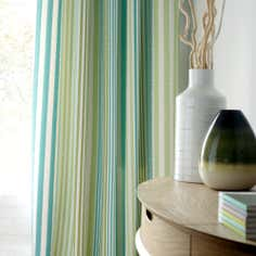 Teal Seattle Seersucker Thermal Eyelet Curtains