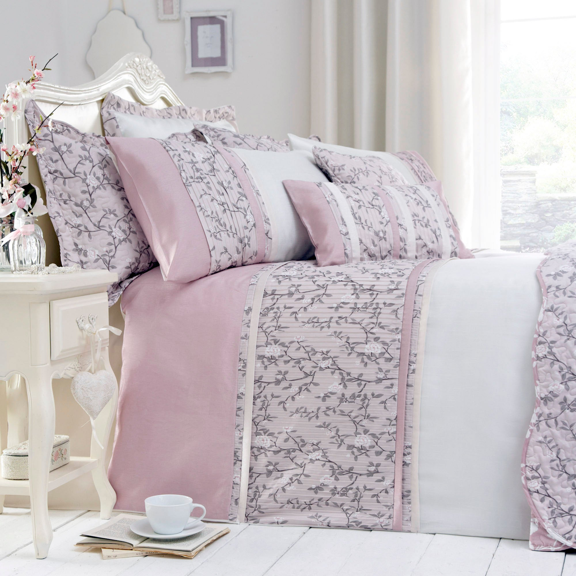 Dusky Pink Chinoiserie Collection Duvet Cover
